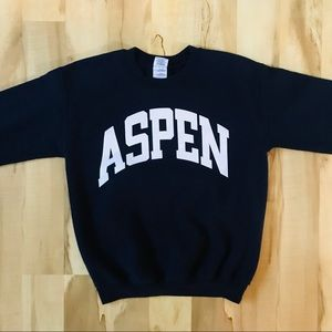 Aspen Sweatshirt Women's Size S Blue White Cozy